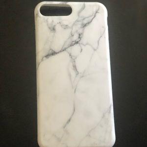 Flexible gel white marble iPhone 📱 8 Plus case